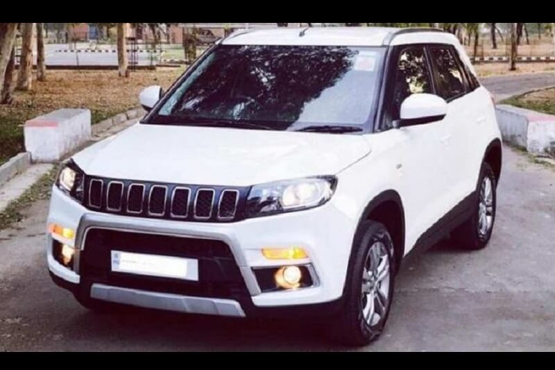 Maruti Vitara Brezza Modified To Look Like Jeep Compass