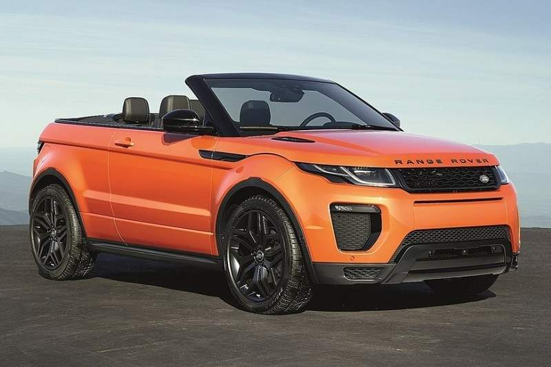 Range Rover Evoque Convertible India Specifications
