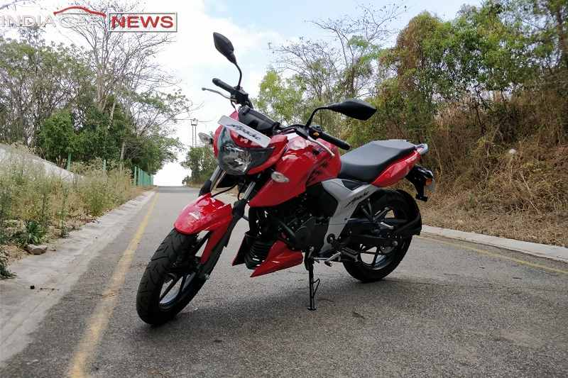 TVS Apache RTR 160 Review Front