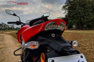 TVS Apache RTR 160 Review Rear