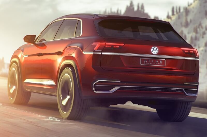 Volkswagen Atlas Cross Sport Rear Siide (1)