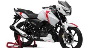 TVS Apache RTR 160 White Race Edition