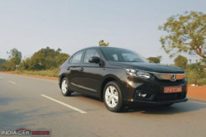 New Honda Amaze Review Motion Shot