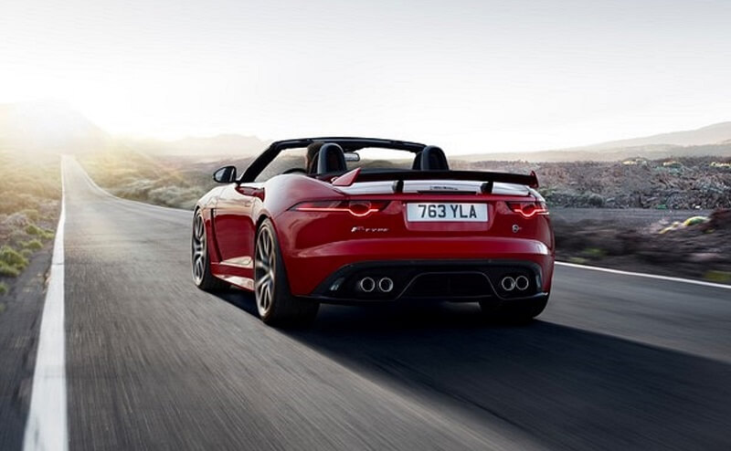 Jaguar F-TYPE SVR India Rear