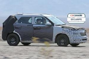 New Hyundai Compact SUV spied