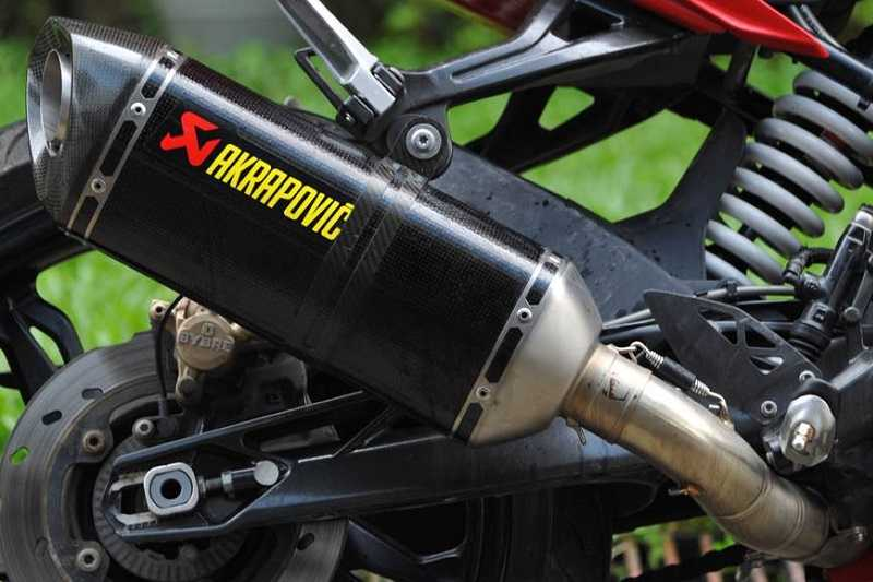 TVS Apache RR 310 Exhaust system