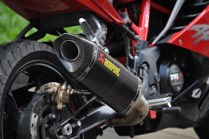 TVS Apache RR 310 aftermarket exhaust