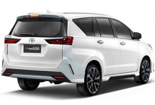 Toyota Innova Crysta Rear Rendering