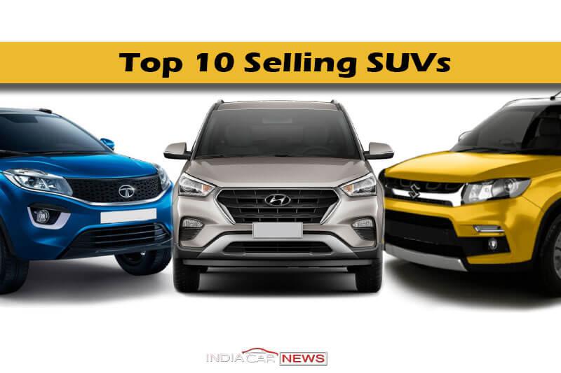 Top 10 Selling SUVs June 2018