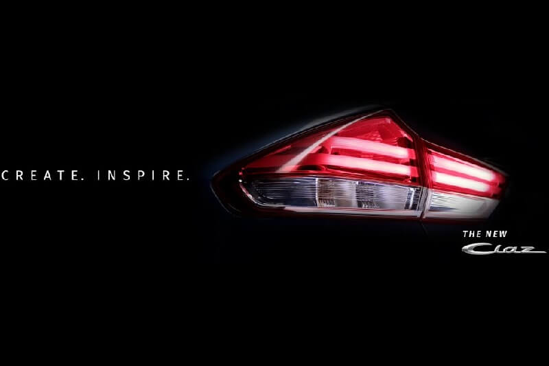 2018 Maruti Ciaz taillight teased