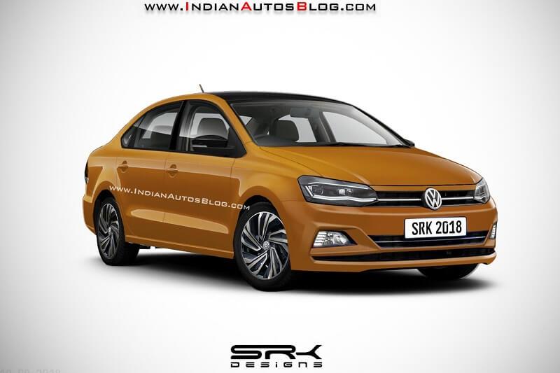 New Volkswagen Vento 2019 Facelift Rendered
