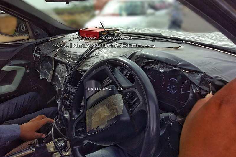 Tata Harrier Interior cabin spied