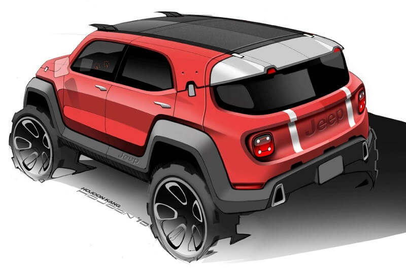 Jeep Small SUV Design Sketch