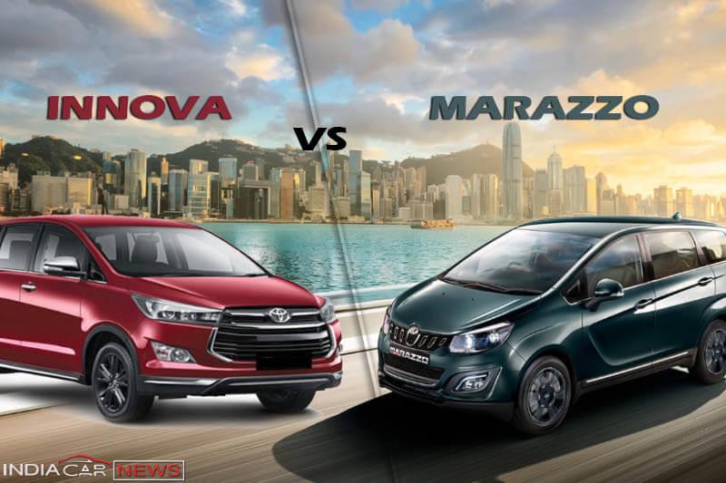 Mahindra Marazzo Vs Toyota Innova
