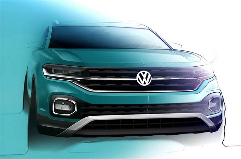 volkswagen t cross interior revealed in a new design sketch. Black Bedroom Furniture Sets. Home Design Ideas