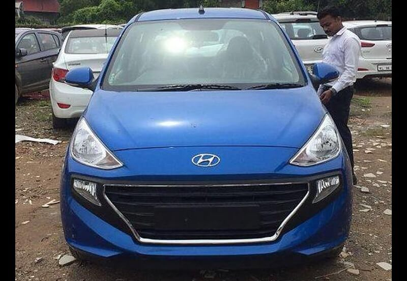 New Hyundai Santro Blue
