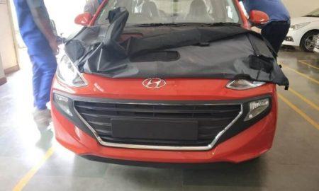 New Hyundai Santro Front Spied