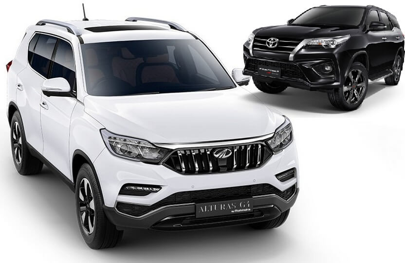 Mahindra Alturas Vs Toyota Fortuner Comparison - Price