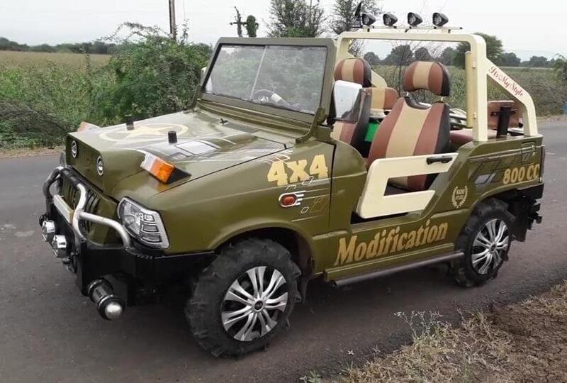 maruti 800 modified mahindra thar india car news