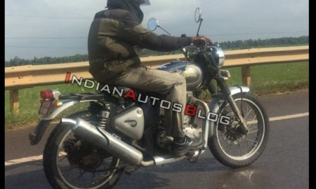 Royal Enfield Classic 500 Scrambler Spied