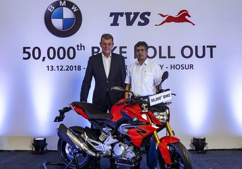 TVS Rolls Out 50K BMW