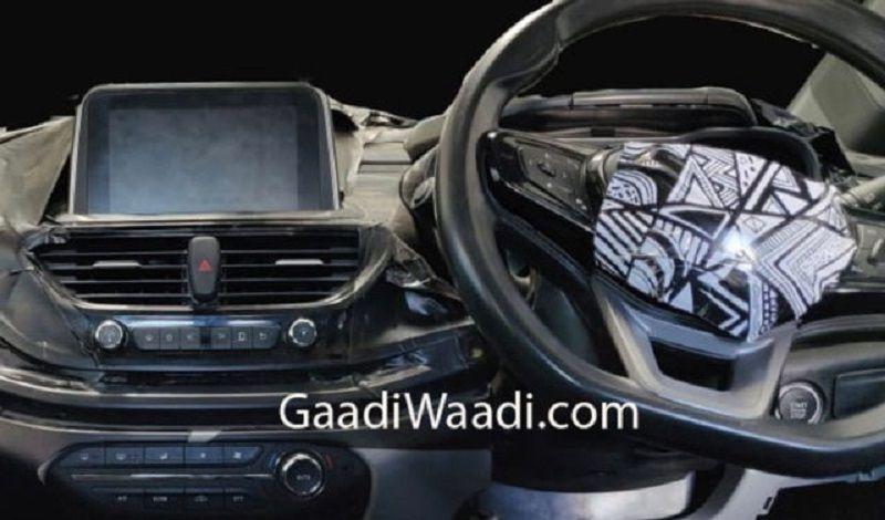 Tata 45X Interior Leaked Touchscreen