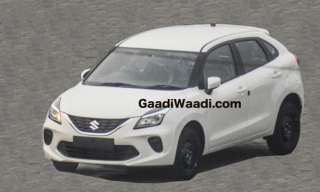 Baleno facelift spied