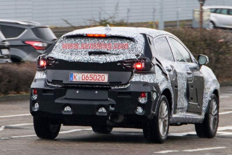 Ford Fiesta Crossover Spied rear
