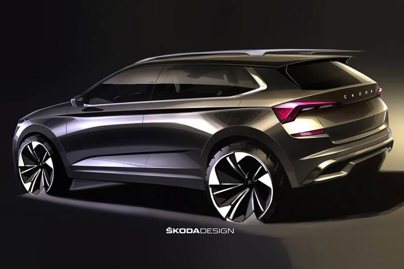 Skoda Kamiq Sketch Rear
