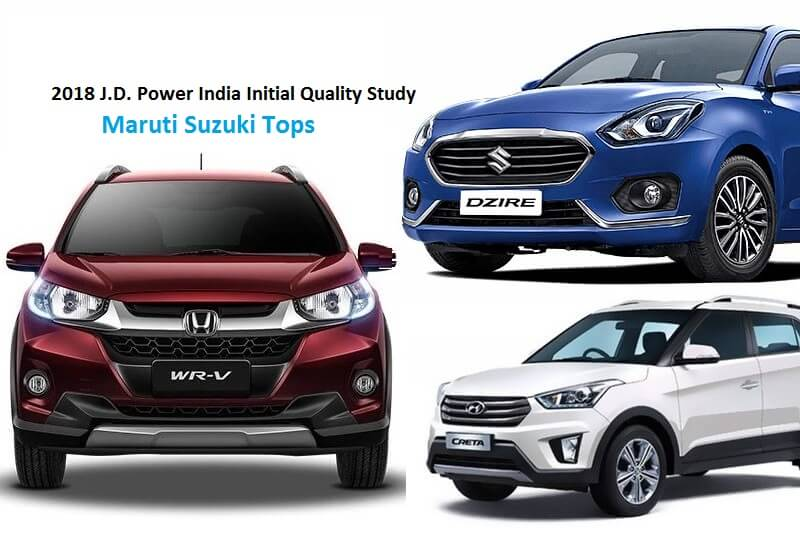 2018 J.D. Power India Initial Quality Study