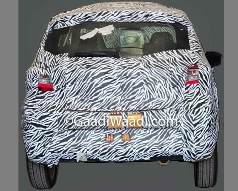 2019 Tata Tiago Facelift Spied rear
