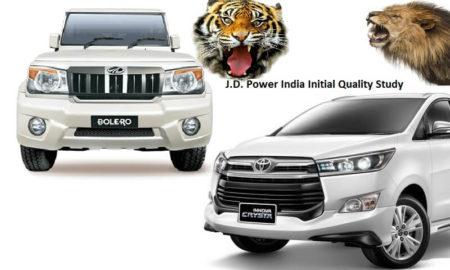 Toyota Innova Mahindra Bolero JD Power