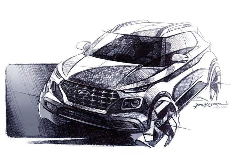 Hyundai Venue Design Sketch