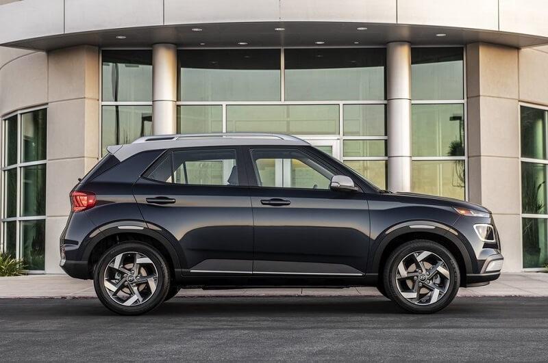 Hyundai Venue India Side Profile