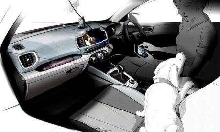 Hyundai Venue Sketch Interior