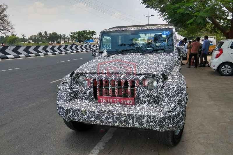 New Mahindra Thar Spied front