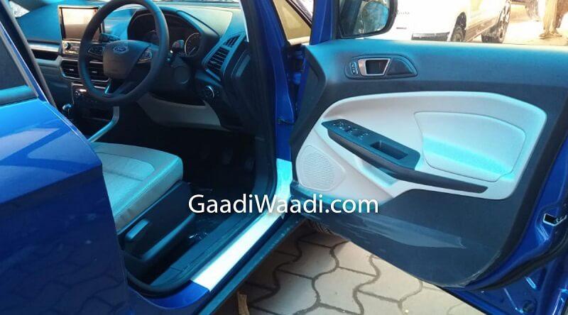 Ford EcoSport Thunder Edition Spied Interior