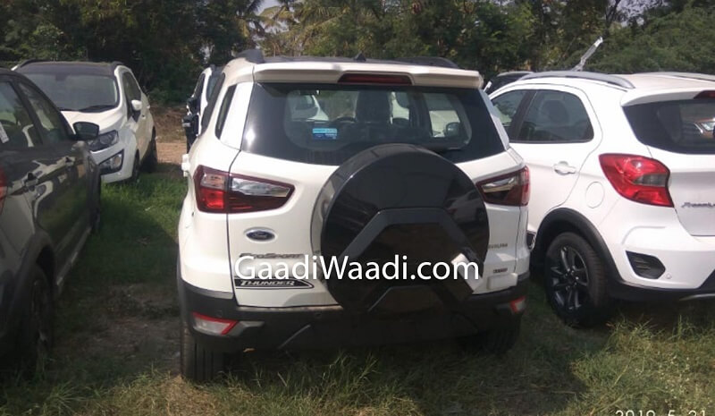 Ford EcoSport Thunder Edition Spied rear