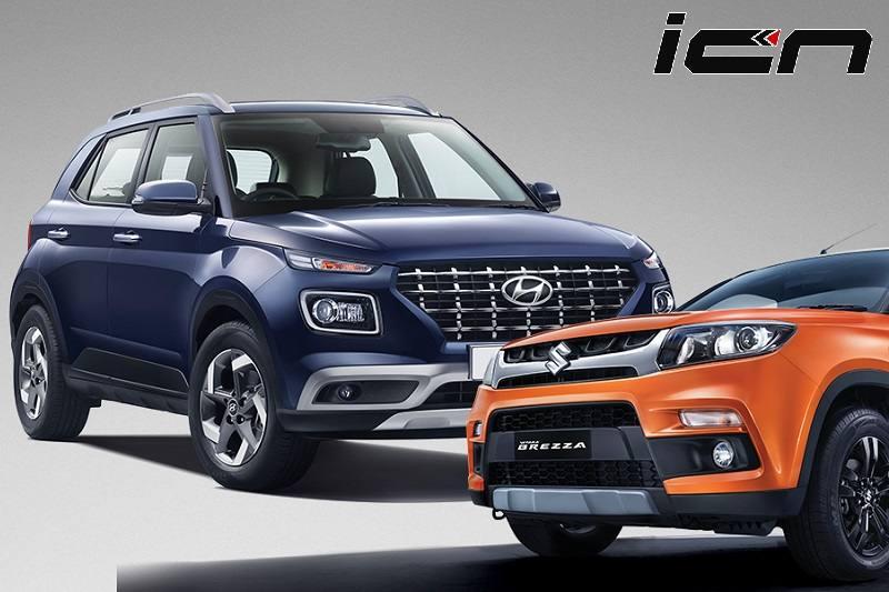 Hyundai Venue Vs Maruti Vitara Brezza