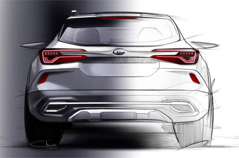 Kia SP2i design sketch rear