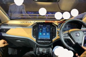 MG Hector Dashboard spied