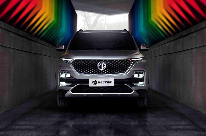 MG Hector front grille