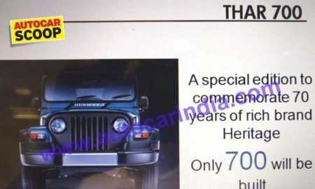 Mahindra Thar Signature Edition Leaked