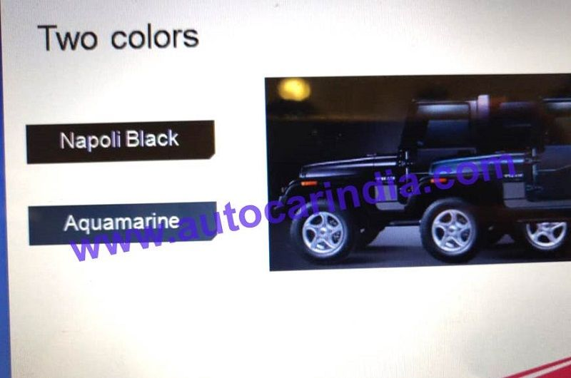 Mahindra Thar 700 Signature Edition Pictures And Details