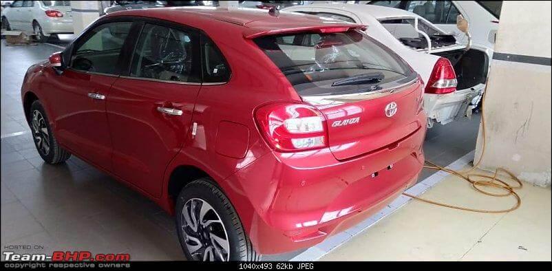Toyota Glanza rear design