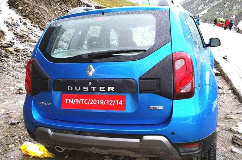 2019 Renault Duster facelift Rear