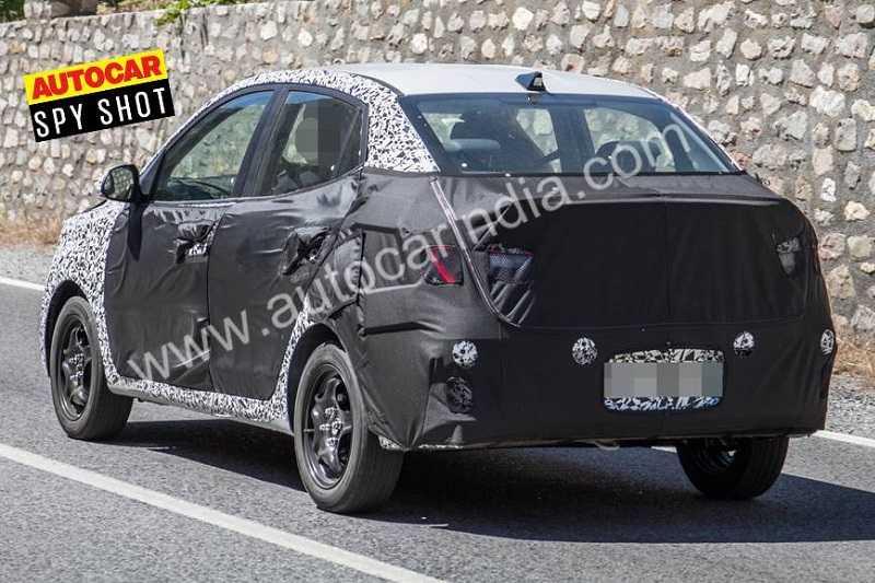 2020 Hyundai Xcent spied 1