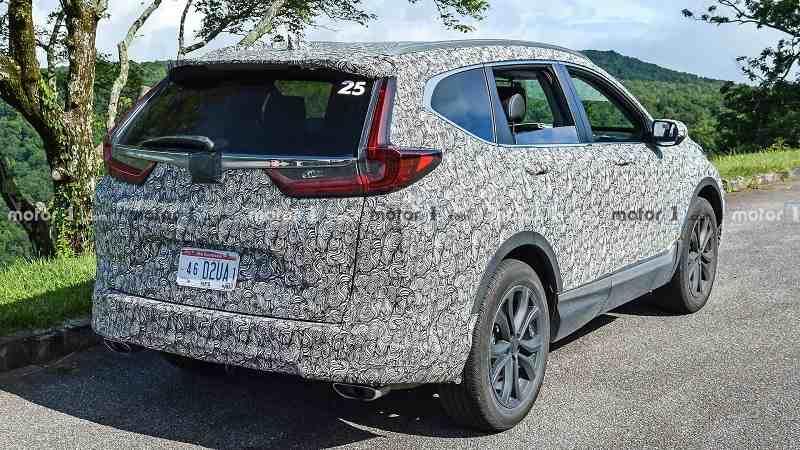 2020 Honda CRV facelift spied