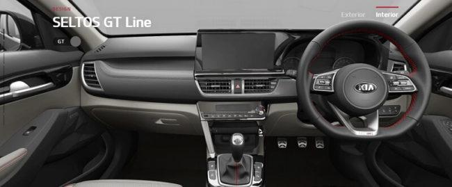 Kia Seltos GT Interior