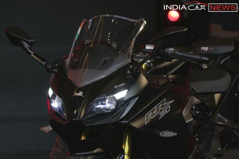 TVS-Apache-RR-310-Black-front-cowl